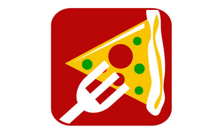Pizza Fork Illustration