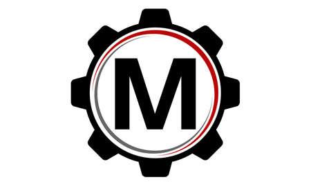 Gear Solution Logo Letter M