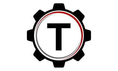 Gear Solution Logo Letter T