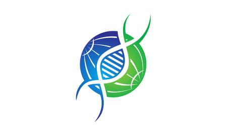 recessive: DNA Genetics Illustration