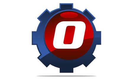 Gear Logo Letter O