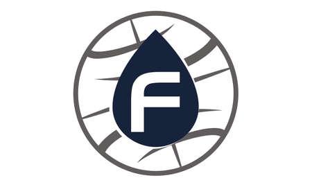 Water Oil World Letter F