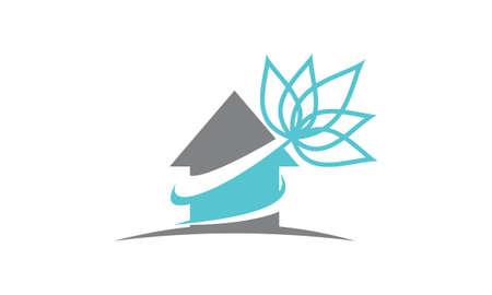Real Estate Lotus Flower Illustration