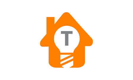 t bulb: Smart Home Initial T Illustration