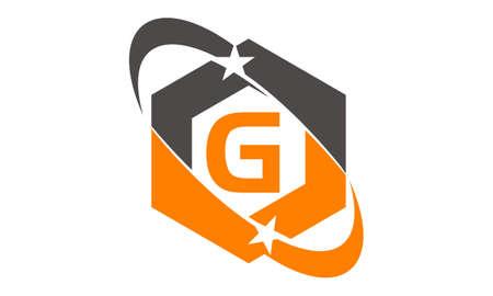 Star Swoosh Letter G