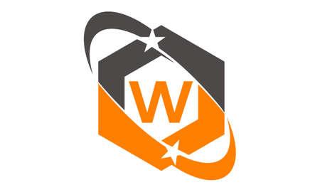 Star Swoosh Letter W