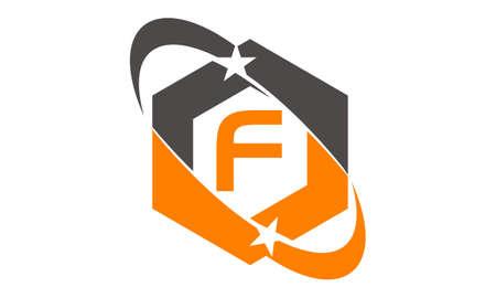 Star Swoosh Letter F