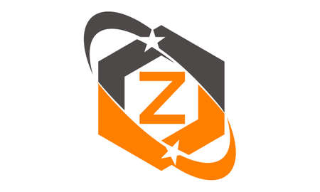Star Swoosh Letter Z