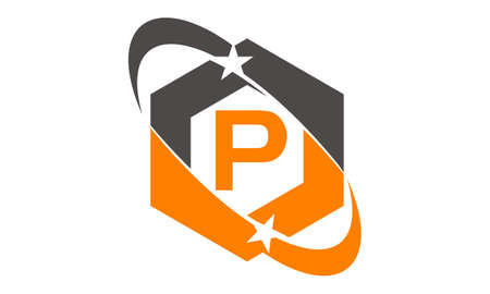 Star Swoosh Letter P