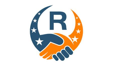 Partenaires du succès initial R Banque d'images - 77742921