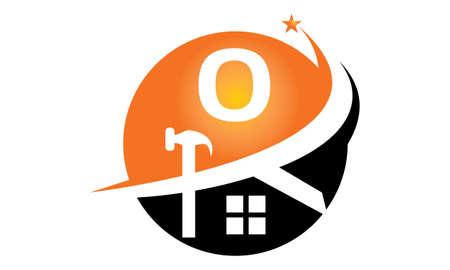 insignias: Restauraciones y Construcciones Inicial O Vectores