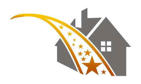 residential construction: Home Star Illustration