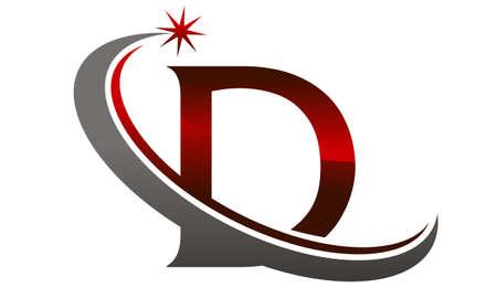 Star Swoosh Lettre D Banque d'images - 77775297