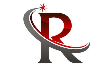 Star Swoosh Letter R Stock Illustratie