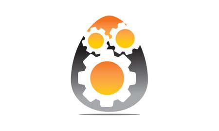 Incubadora de negocios de huevos Ilustración de vector