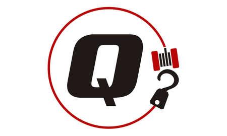 Crane Hook Towing Letter Q