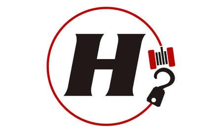 Crane Hook Towing Letter H