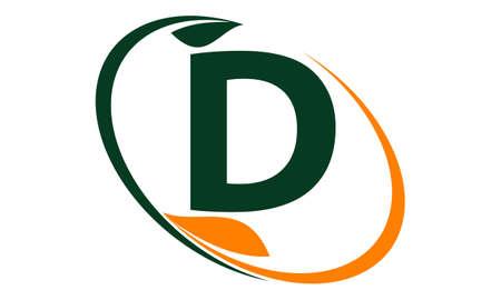 garden maintenance: Swoosh Leaf Letter D