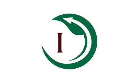 Swoosh Leaf logo with letter I