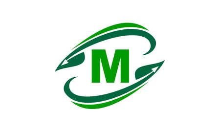 Swoosh Leaf Initial M