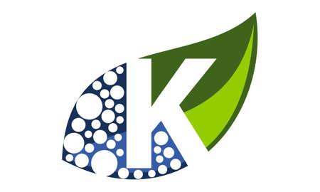 Leaf Water Letter K