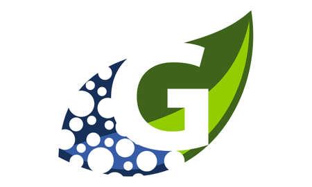 Leaf Water Letter G Illusztráció