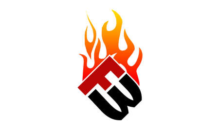 Letter FW Fire Illustration