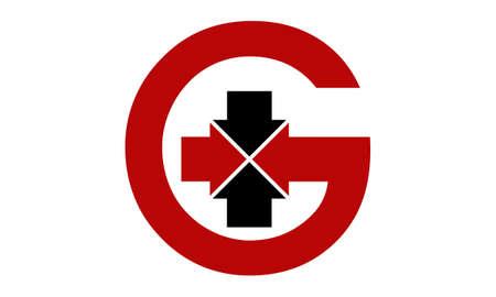 property management: Modern Logo Solution Letter G Arrow Center