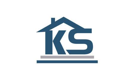 Real Estate Initial KS Vektoros illusztráció
