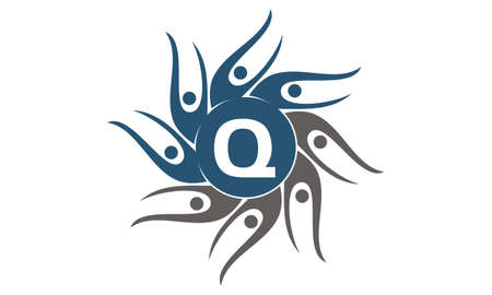 Community Social Initial Q logo