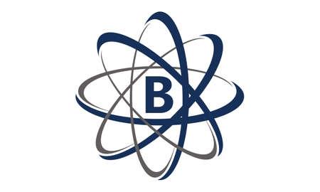 Atom Initial B Illustration