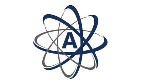 Atom Initial A logo Illustration