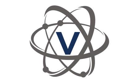 Atom Initial V Illustration