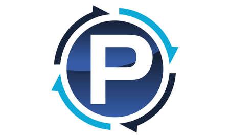 Process Planner Center Letter P Illustration