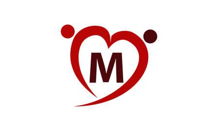 Love Initial M Ilustração