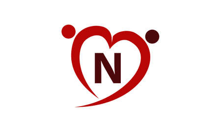 Love Initial N Banque d'images - 77983280
