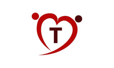 Love Initial T Banque d'images - 77983286