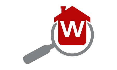 Home Searching Agent Initial W Illustration