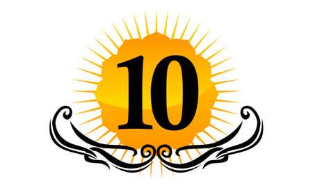 Modern Logo Number 10 Illustration
