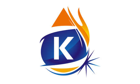 Water Fire Flame Gas Oil Initial K