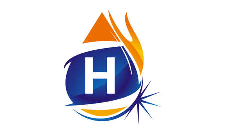 Water Fire Flame Gas Oil Initial H