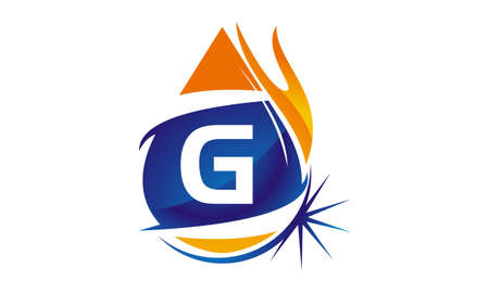 Water Fire Flame Gas Oil Initial G