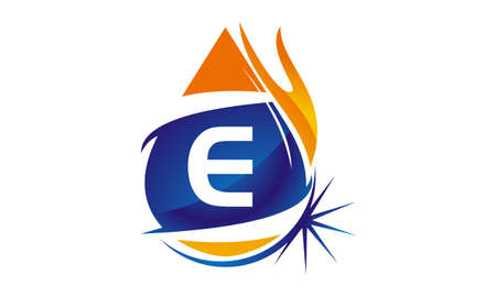 Water Fire Flame Gas Oil Initial E