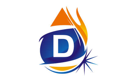 Water Fire Flame Gas Oil Initial D Illustration