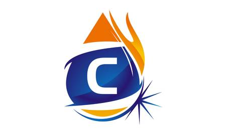Water Fire Flame Gas Oil Initial C