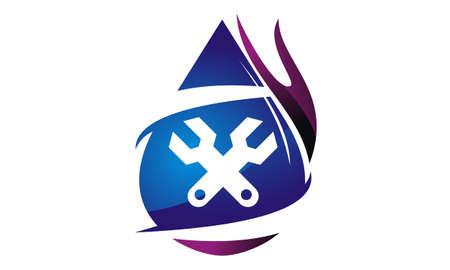Gear Screwdriver Oil Water Gas