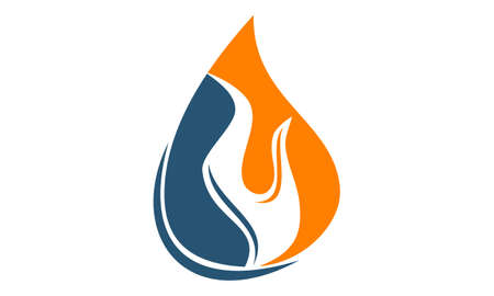 flammable: Water Fire Flame Gas Oil Illustration
