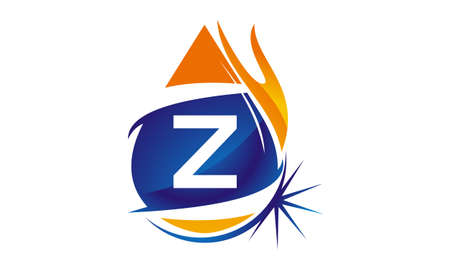 Water Fire Flame Gas Oil Initial Z