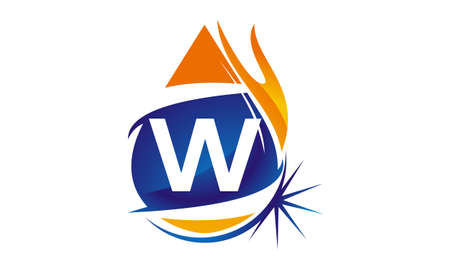 Water Fire Flame Gas Oil Initial W