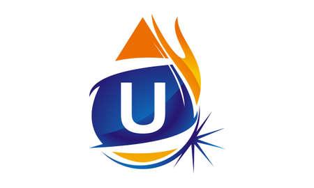 Water Fire Flame Gas Oil Initial U